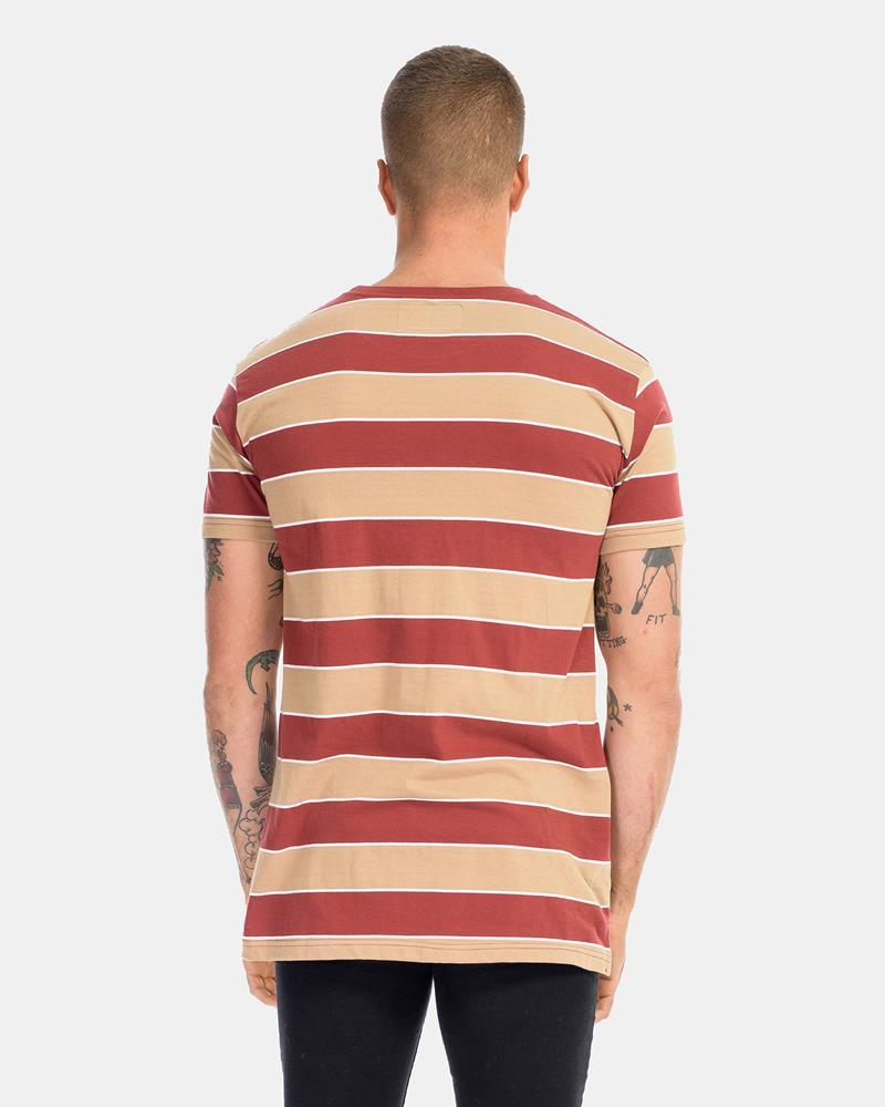 Superior Stripe Tee - Burnt Caramel