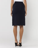 The Other Side Wrap Skirt - French Navy