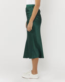 All These Years Satin Skirt - Forest