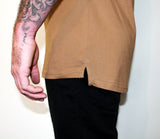 Tan ROUGH Longline Tee