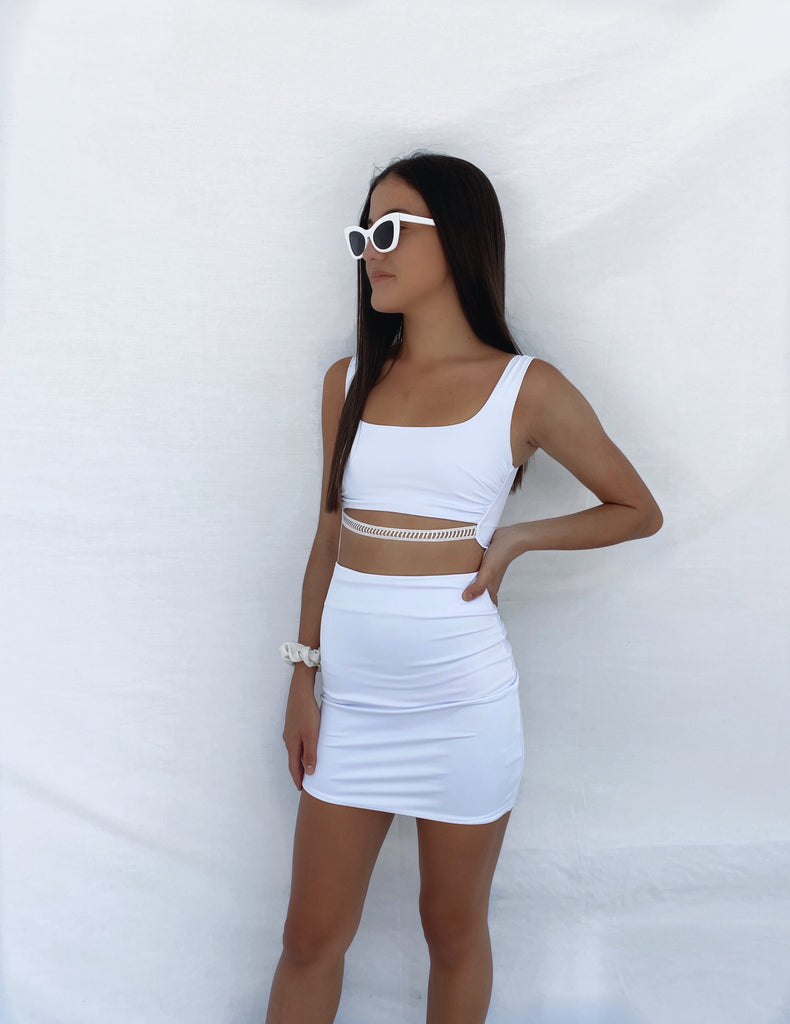 Pina Colada Mini Dress - White