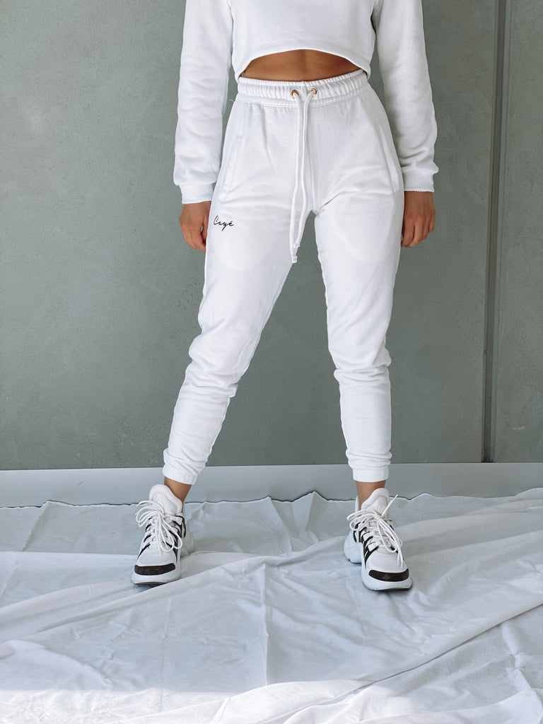 Signature Track Pants - White W