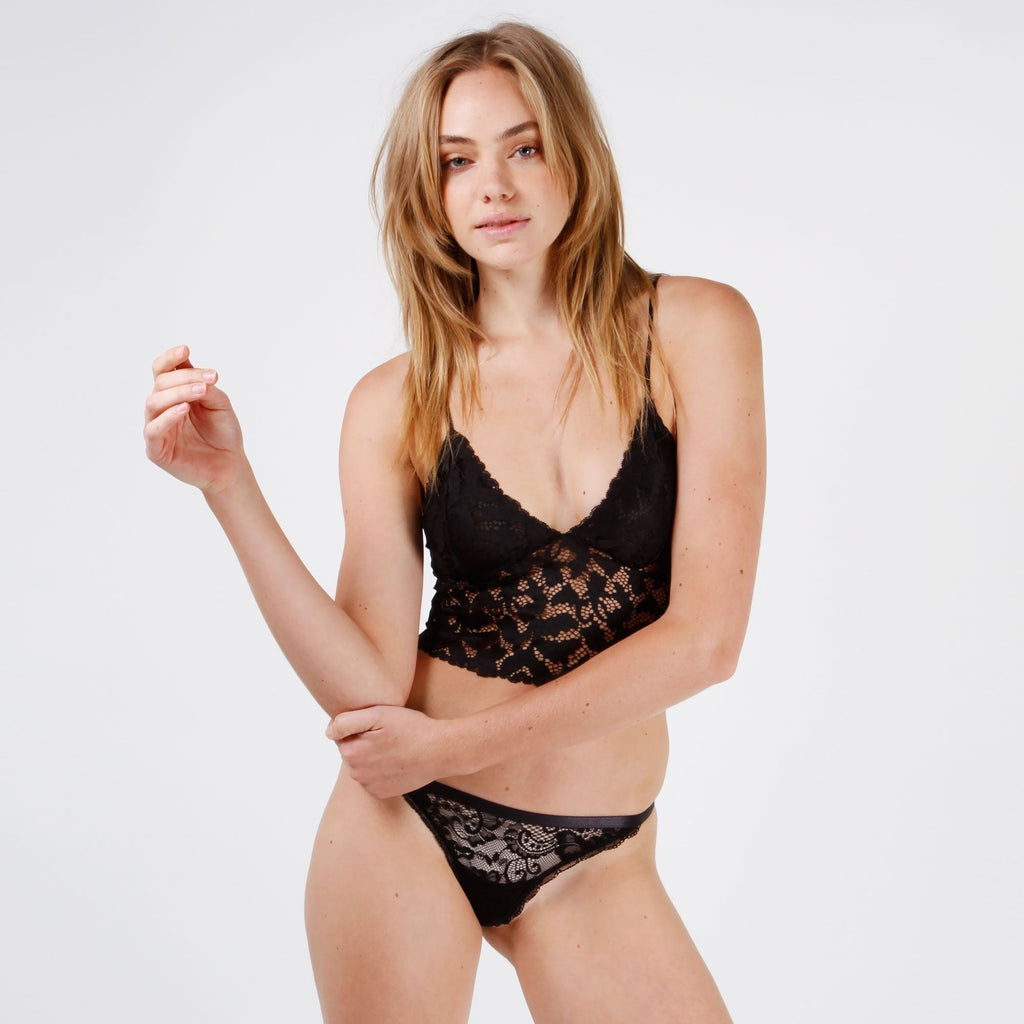 Olivia Lace Cami - Black