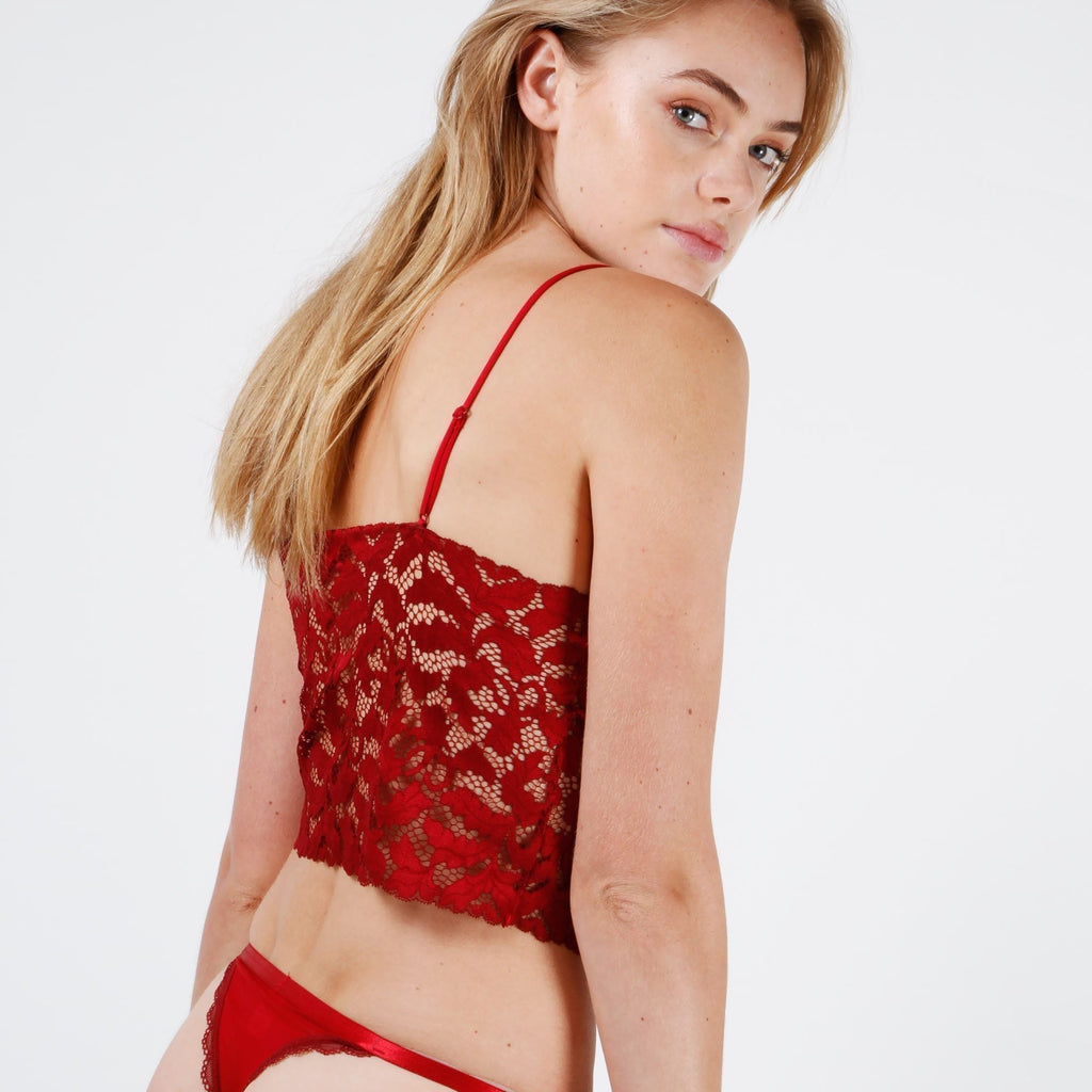 Olivia Lace Cami - Red