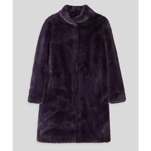 Blümlein & Lang Purple Faux Fur Coat