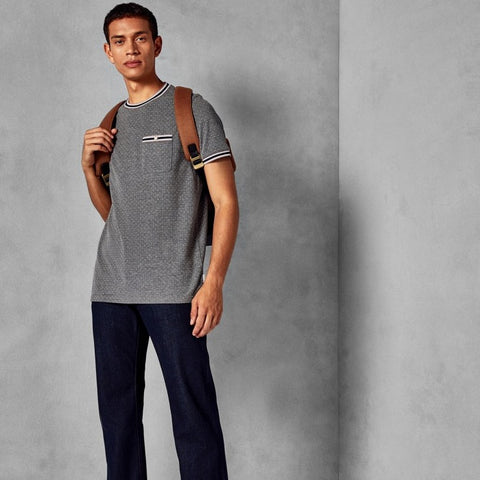 Ted Baker GLAAD Mini spot cotton T-shirt Grey