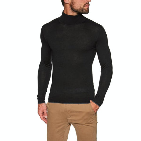 Ted Baker NEWTRIK Fitted roll neck Black