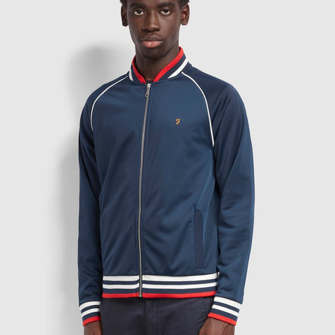 Farah Vintage Rudy Full Zip Sweatshirt In Yale