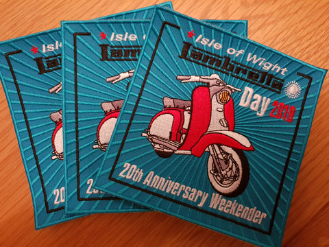 Isle of Wight Lambretta Day 2019 20th Anniversary Weekender Patch