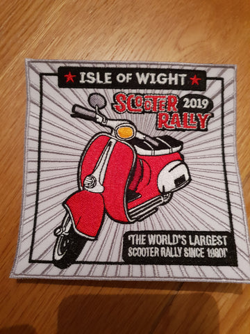 Isle of Wight Scooter Rally 2019 Cloth Patch