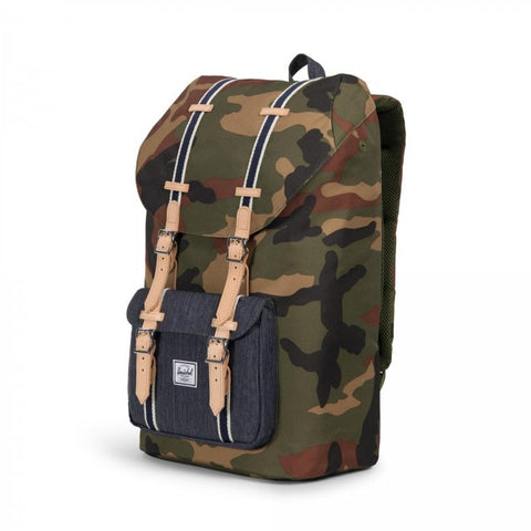 Herschel Little America Rucksack Woodland Camo Dark Denim
