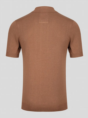 LUKE Tungsten S/S Knitted Polo Camel