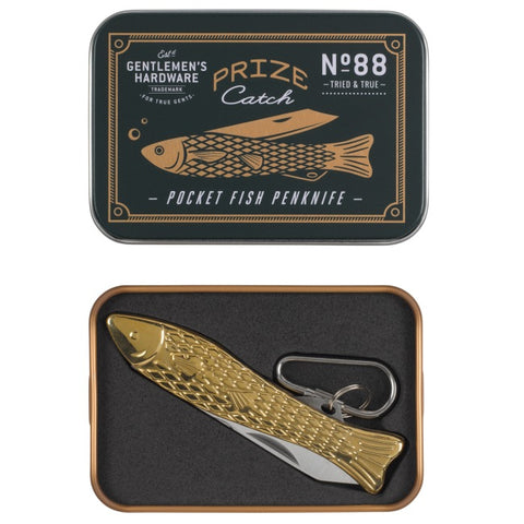 Gentlemen's Hardware Fish Penknife - Brass