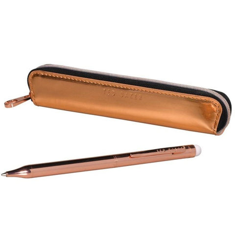 Ted Baker Touchscreen Ballpoint Pen & Case - Rose Gold