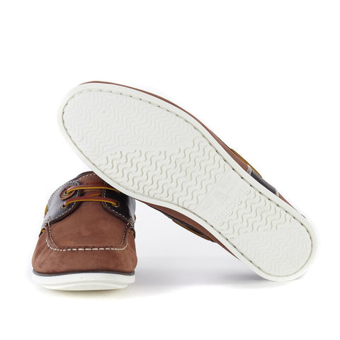 BARBOUR CAPSTAN BOAT SHOES BRANDY