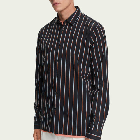 Scotch & Soda Stretch cotton-blend striped shirt