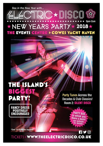 The Electric Disco New Years Eve , Cowes Yacht Haven, Entry Ticket including £1 booking fee