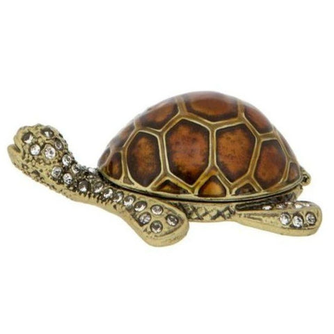 London Ornaments Enamel Turtle Trinket Box