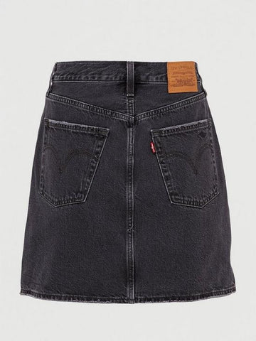 LEVIS HIGH-WAISTED DECONSTRUCTED SKIRT - BLACK