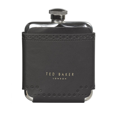 Ted Baker Stainless Steel Hip Flask - Brogue Monkian