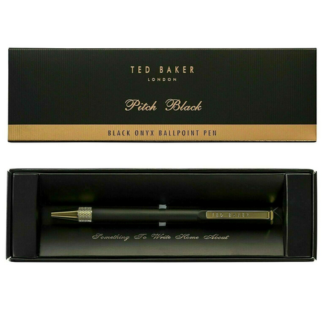 Ted Baker Premium Ballpoint Pen in Box - Black Onyx
