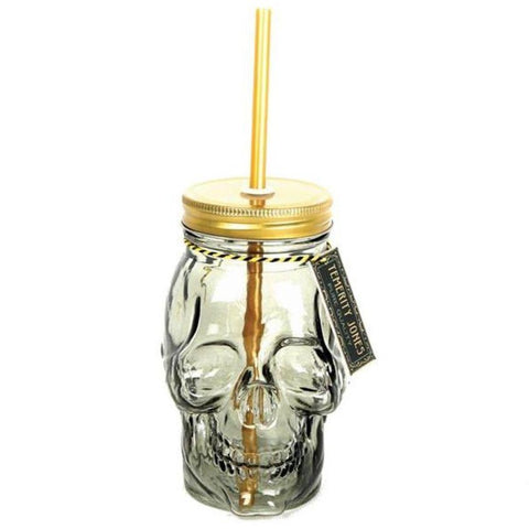 Temerity Jones Skull Drinking Flask