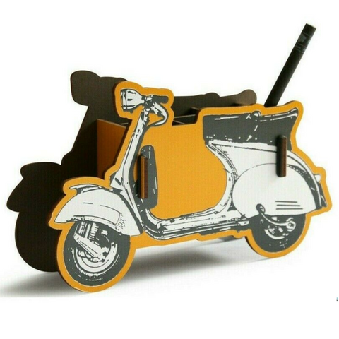 Werkhaus Recycled Wood Pen Holder - Scooter