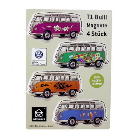 Werkhaus 4Pk VW T1 Camper Magnets - Patterned