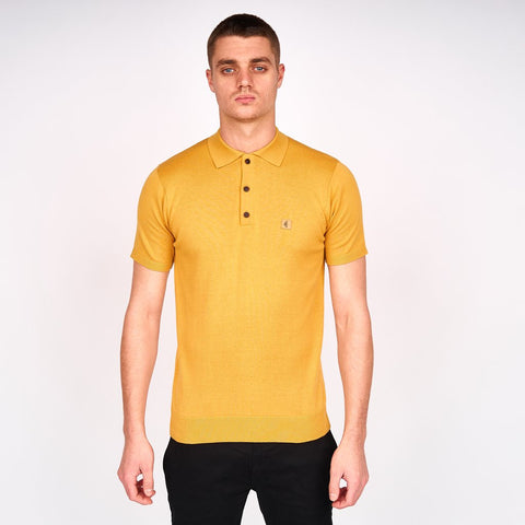 Gabicci Vintage fit Short sleeve three button polo collar knit