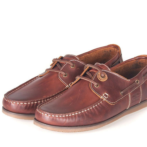 BARBOUR CAPSTAN BOAT SHOES MAHOGANY