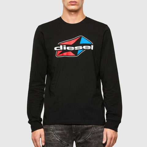 T-DIEGOS-LS-K41 Long-sleeve T-shirt with star logo