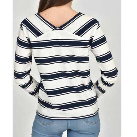 GANT 3/4 Sleeve Stripe T-shirt - Navy