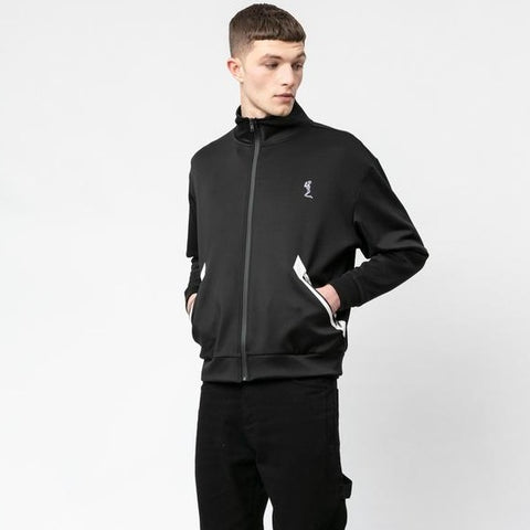 RELIGION REUNION TRACK TOP BLACK