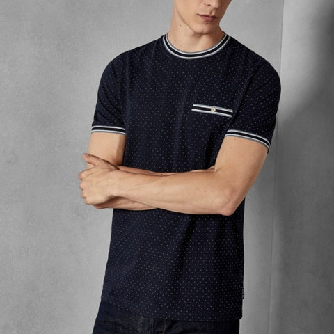 Ted Baker GLAAD Mini spot cotton T-shirt Navy