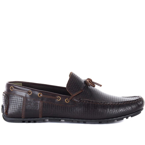BARBOUR CLARK DRIVING SHOES DARK BROWN