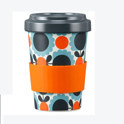 Orla Kiely Bamboo Travel Mug - Scallop Flower