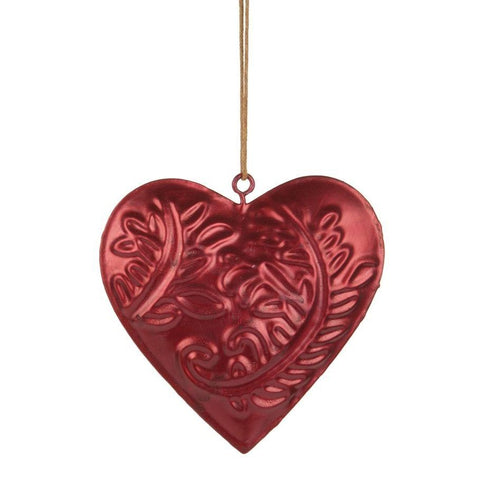 London Ornaments Large Hanging Metal Heart