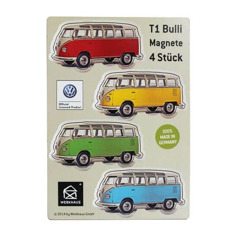 Werkhaus 4Pk VW T1 Camper Magnets - Plain