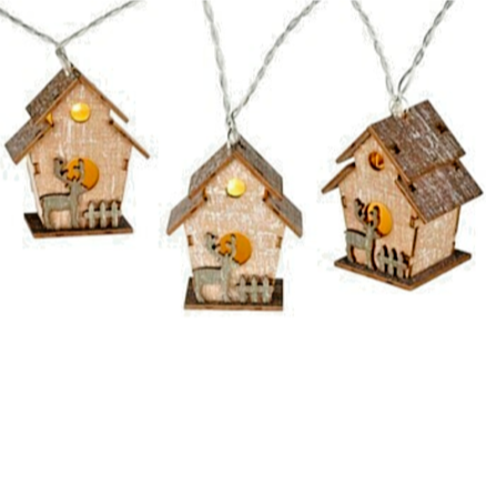 Parlane Rustic Wooden House String Lights