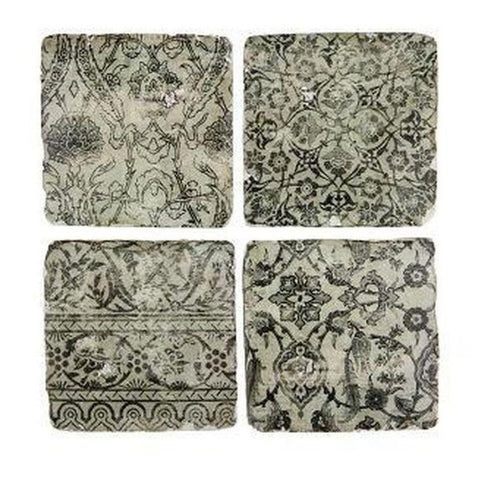 London Ornaments Ceramic Coasters - Monochrome