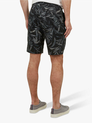 TED BAKER Ausral Leaf Print Chino Shorts - Navy
