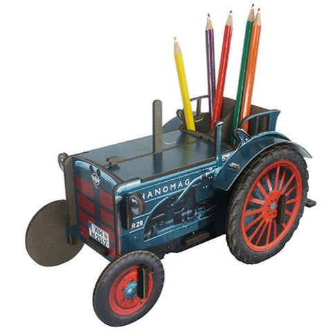 Werkhaus Recycled Wood Pen Box - Tractor