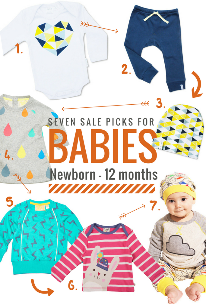 Seven sale picks for babies from newborn to 12 months