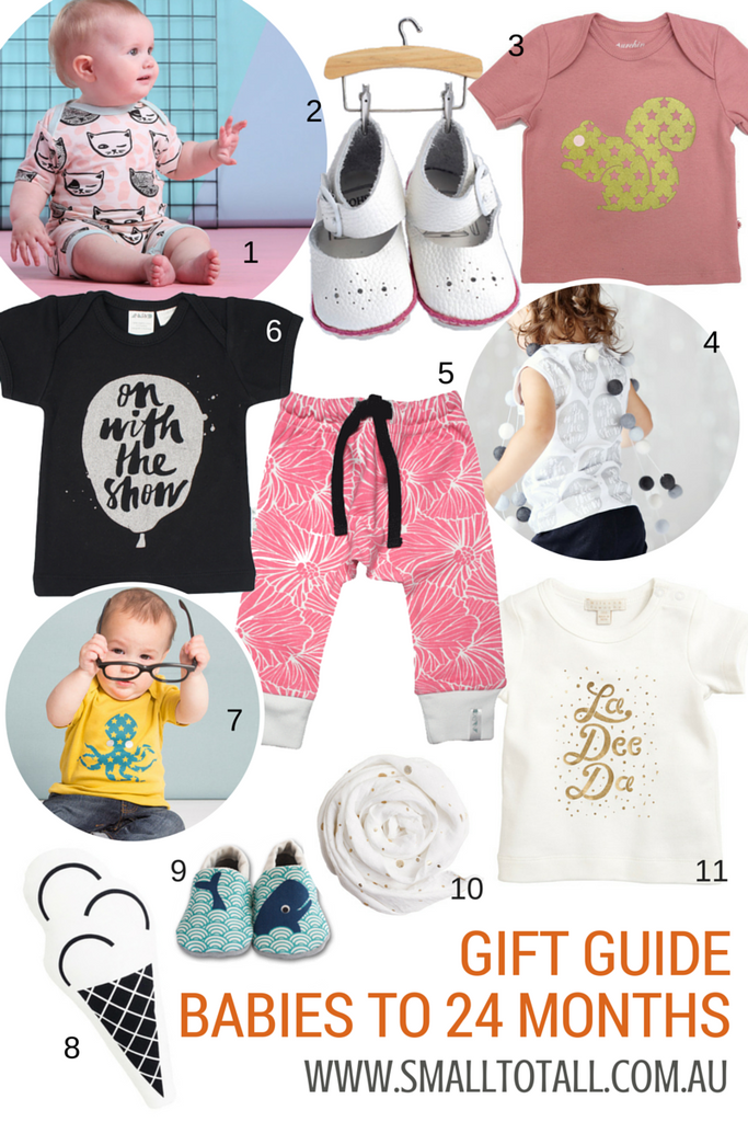 The Small to TALL Christmas Gift Guide for babies up to 24 months