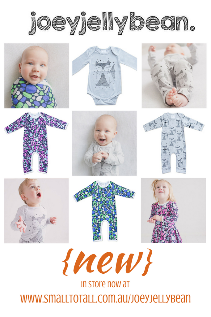 Organic baby clothing and wraps by Australian baby wear designer Joeyjellybean