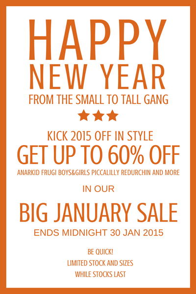 The Small to TALL January sale is big with up to 60% off selected items across the entire range!