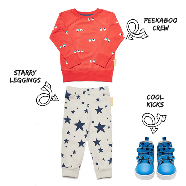 Be inspired with our #starryeyed outfit inspiration for your little one