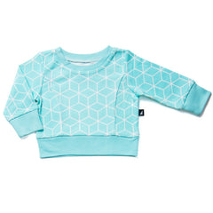 Anarkid Organic's Box Oversize Jumper in ice mint available at Small to TALL