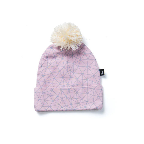 Galaxy Pom Pom Beanie in Pink