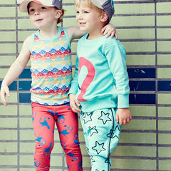 The SS15 collection by Boys&Girls including the toucan print leggings available at Small to TALL